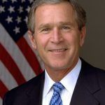 Official photograph portrait of former U.S. President George W. Bush